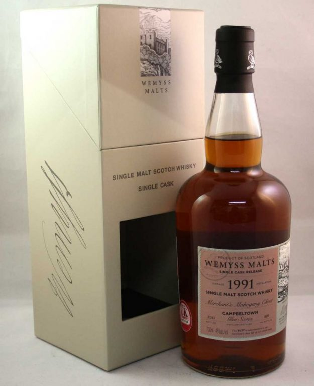 "One Quick Dram: Wemyss ""Merchant's Mahogany Chest"" 1991 Glen Scotia Whisky Tasting Notes"