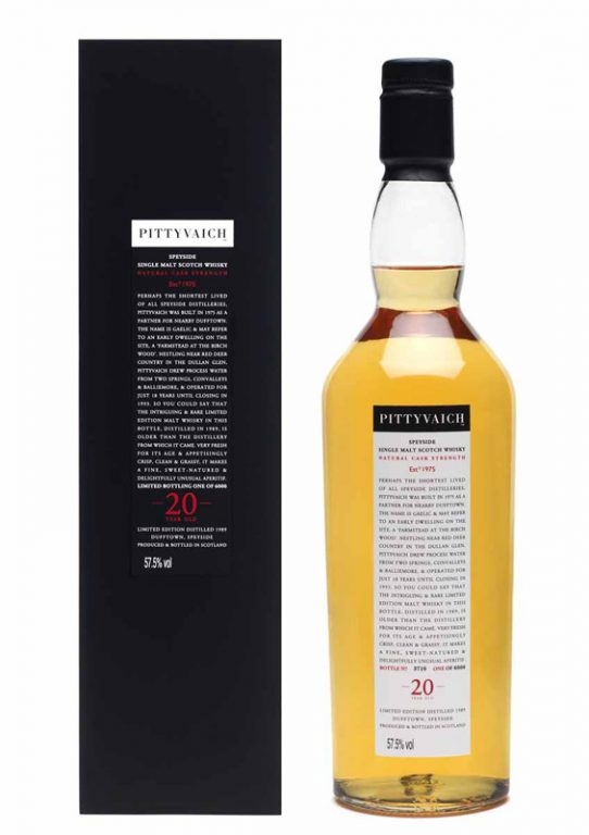One Quick Dram: Pittyvaich 20 Cask Strength Whisky Tasting Notes