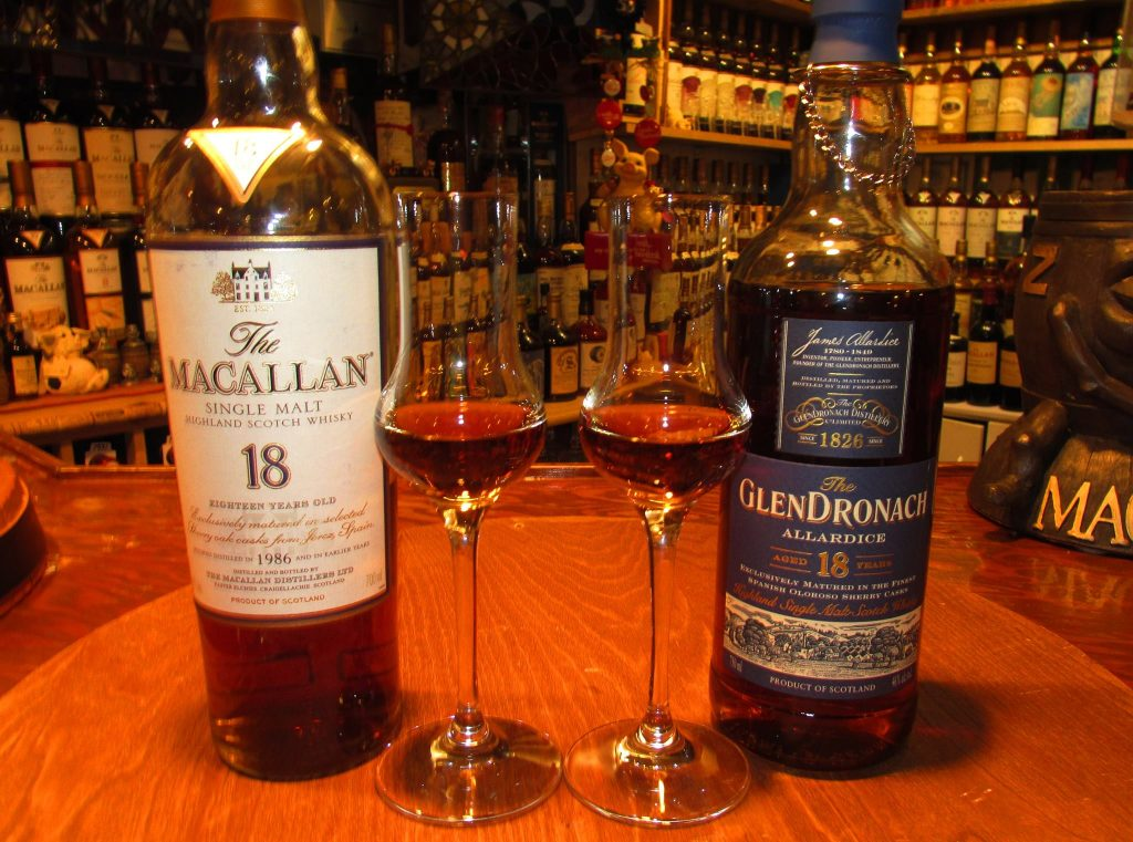 Battle of the Monsters: Macallan Sherry Oak 18 vs. Glendronach 18 Allardice – Guest Post by Jun Nunez