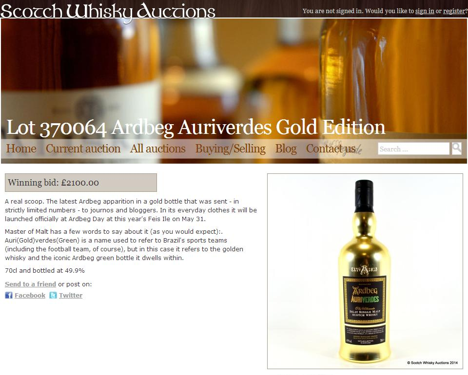 Ardbeg Supernova (Miniature) Mania – And One Blogger's Response