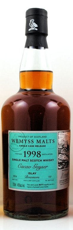 A Two Faced Bowmore Single Cask – The Wemyss 1998 Cacao-Geyser