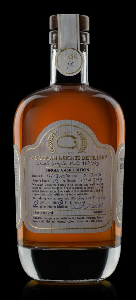 Golan Heights Distillery, Single Malt Cask 10 In Ex-Golani Cask (62.1%)