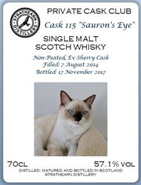 Strathearn Single Cask 115 'Sauron's Eye' (57.1%)